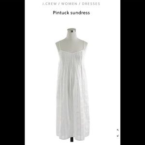 J Crew Pintuck Sundress White